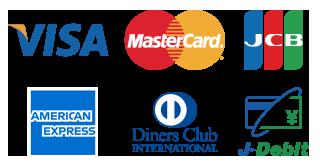 各種キャッシュレス決済(クレジットカード・デビットカード)をご利用頂けます。